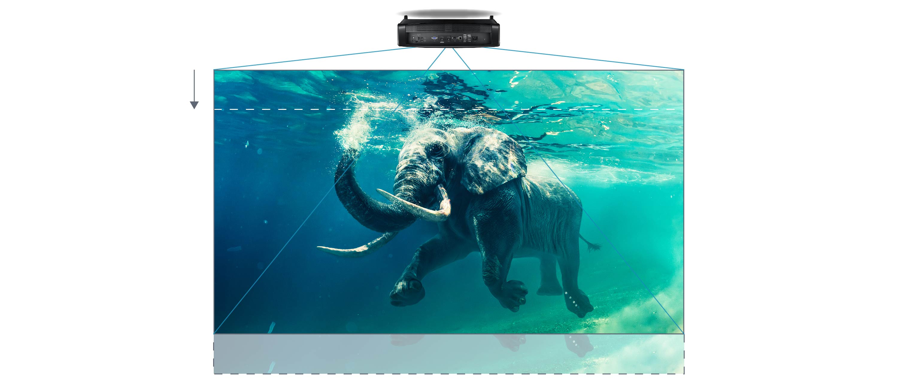 Optoma UHZ65 Laser 4K Ultra HD Projector - 2486