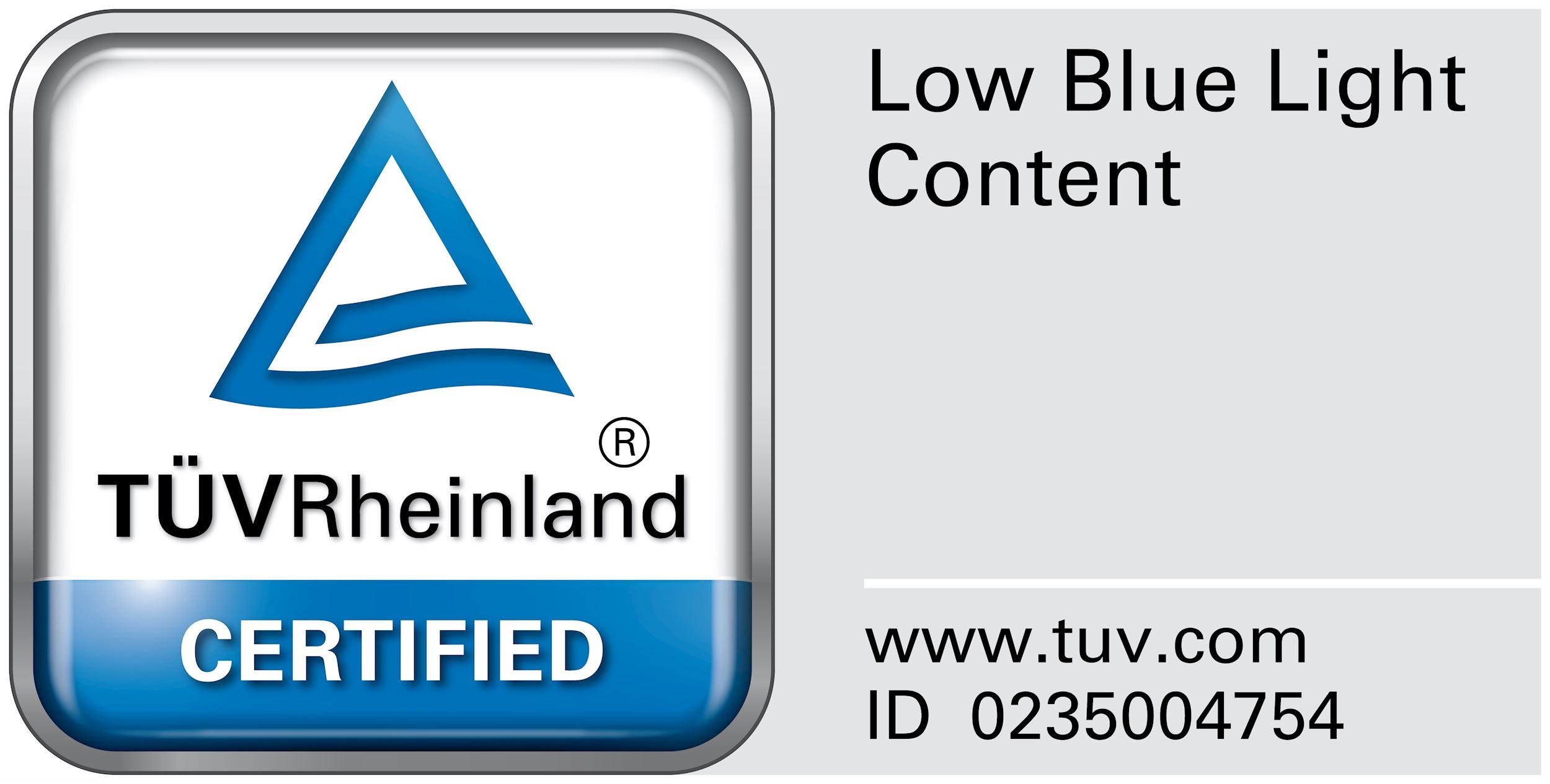 TUV Certified Low blue light display